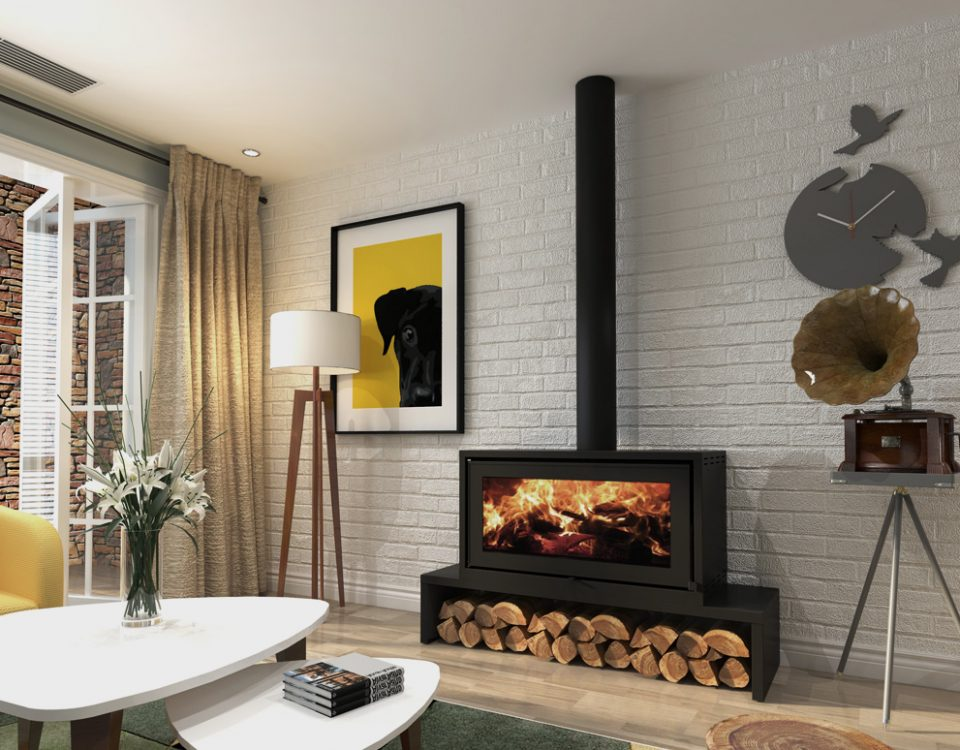 Landscape P10 FREESTANDING fireplace