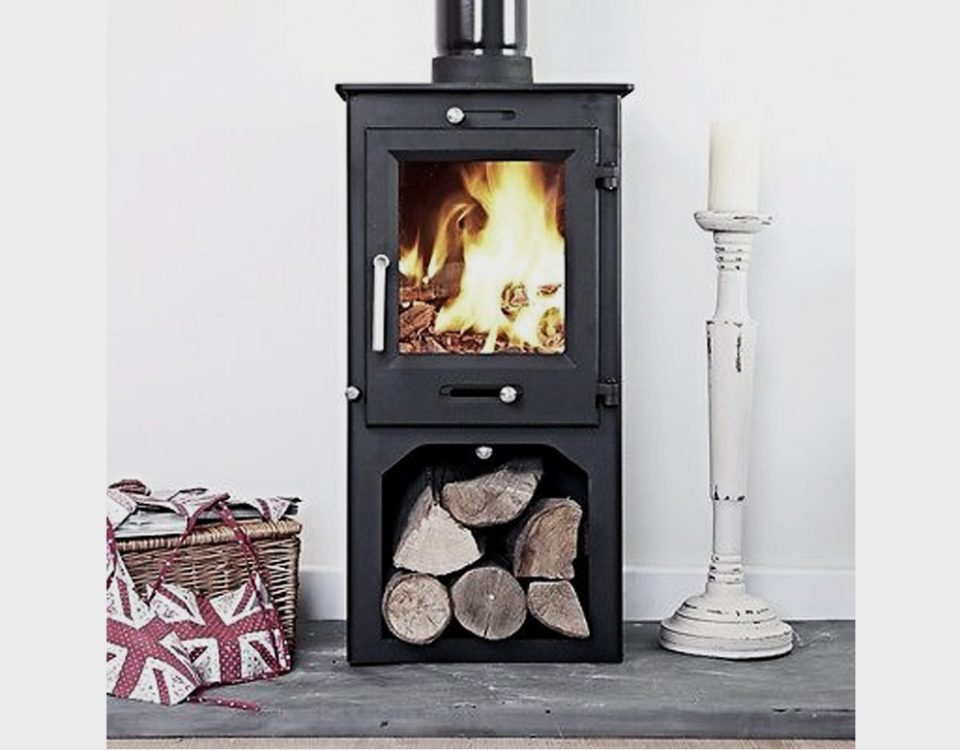 Ottawa Compact 6 KW with Log Stand fireplace