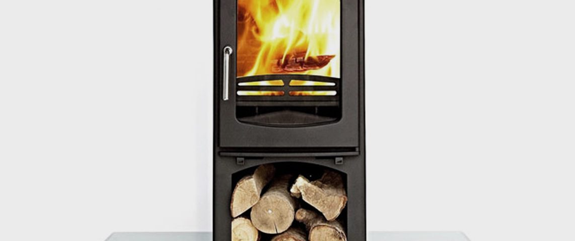 Ottawa Curve 10 KW with Log Stand fireplace