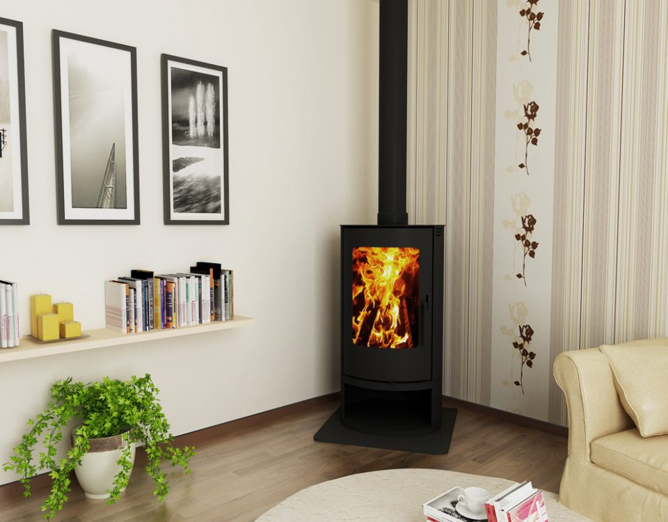 cosmo floorstanding fireplace
