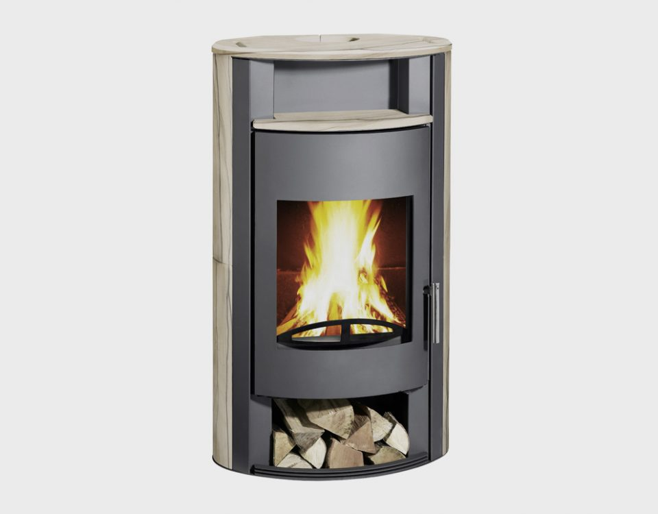 Delata sandstone fireplace