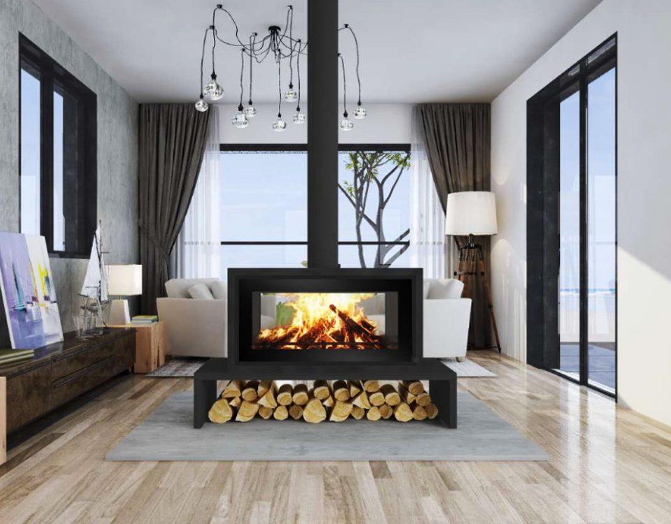 p11 free standing fireplace